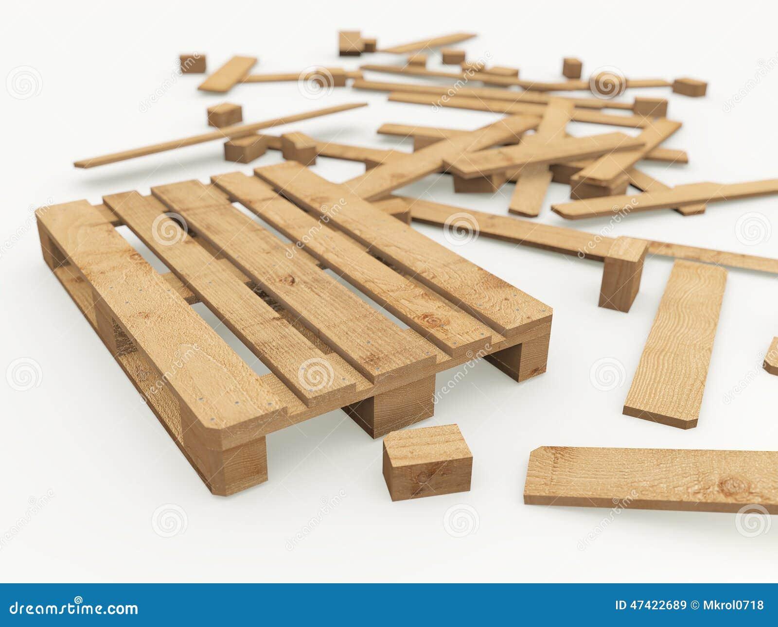 Palette en bois et ses panneaux de construction - Construction avec des palettes en bois ...