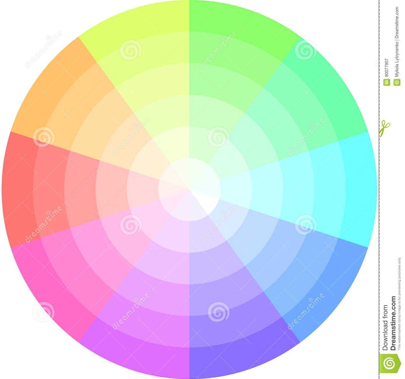 Palette pastel colors vector pie chart stock vector illustration palette pastel colors vector pie chart nvjuhfo Gallery