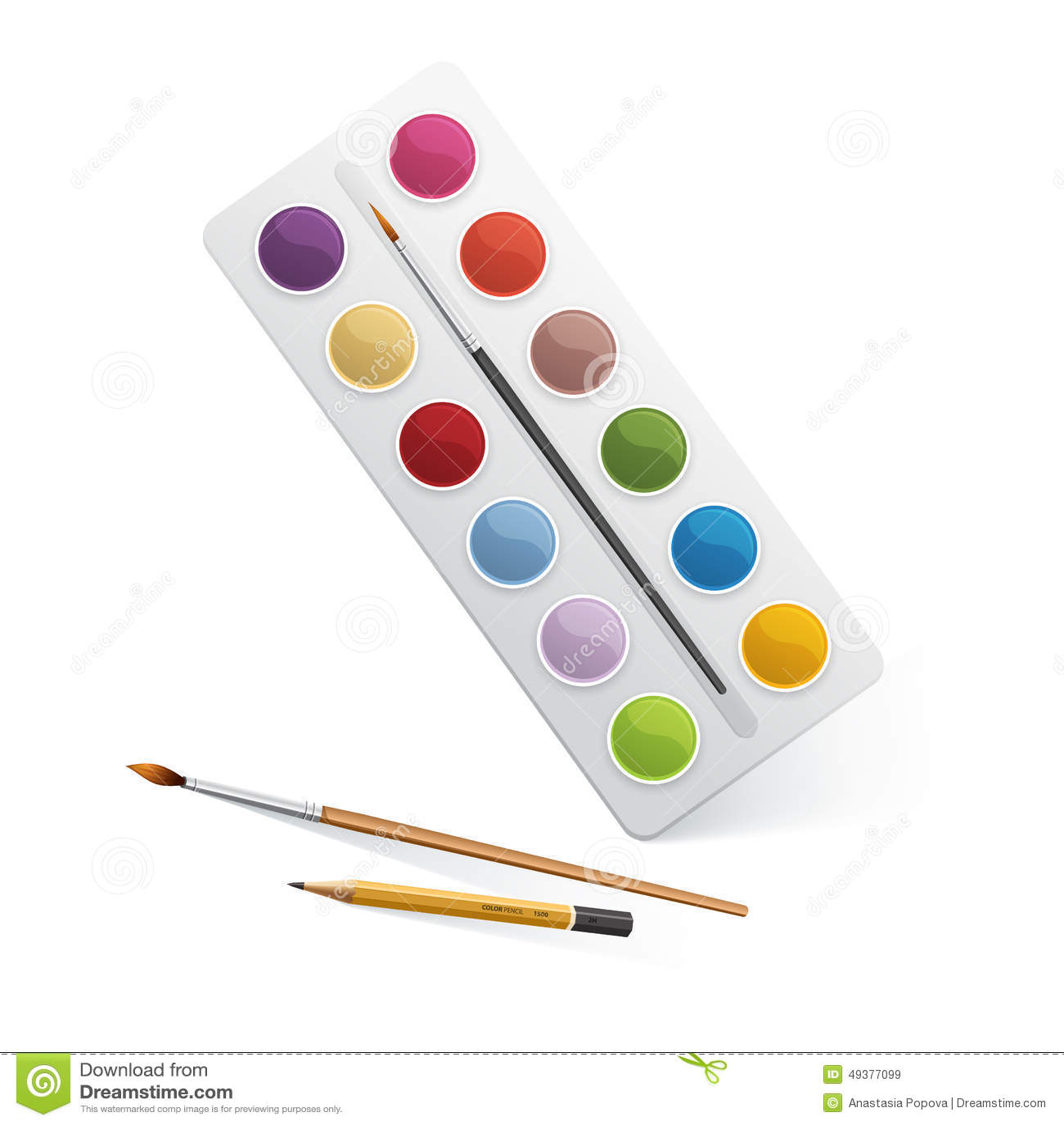 palette pour la peinture d 39 aquarelle illustration de vecteur illustration du artistique. Black Bedroom Furniture Sets. Home Design Ideas