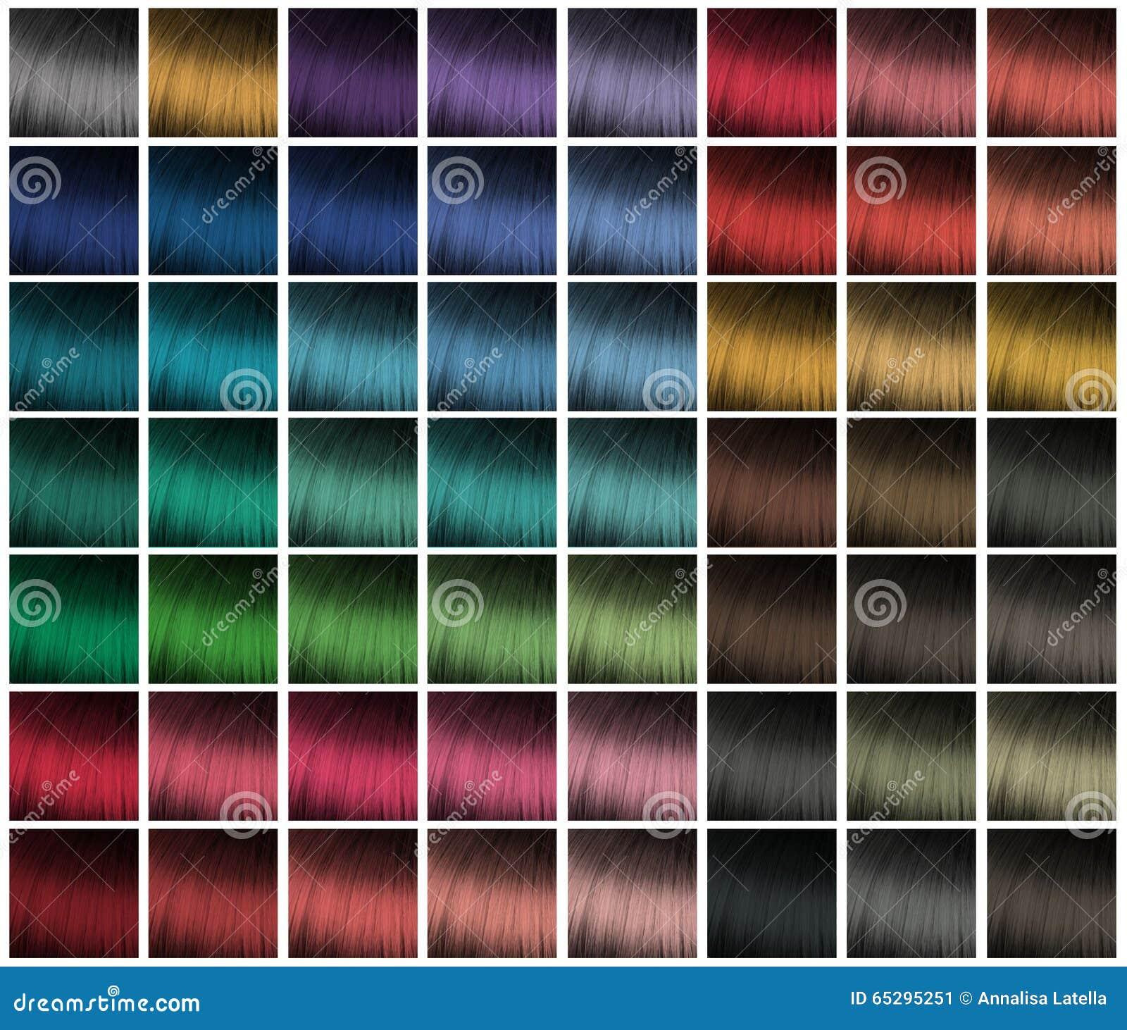 palette pour la teinture de cheveux image stock image With couleur pastel pour salon 13 palette pour la teinture de cheveux image stock image