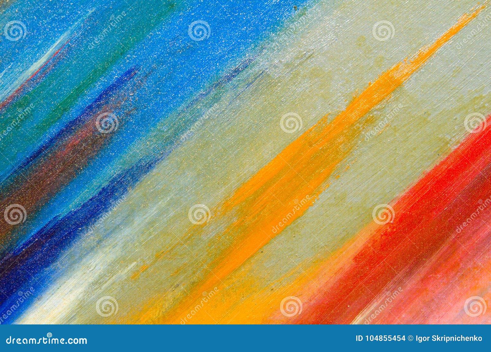 Paletten av blått på kanfasen