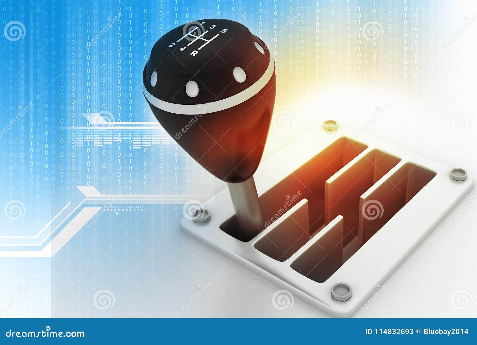 Palillo de engranaje en fondo de la tecnología