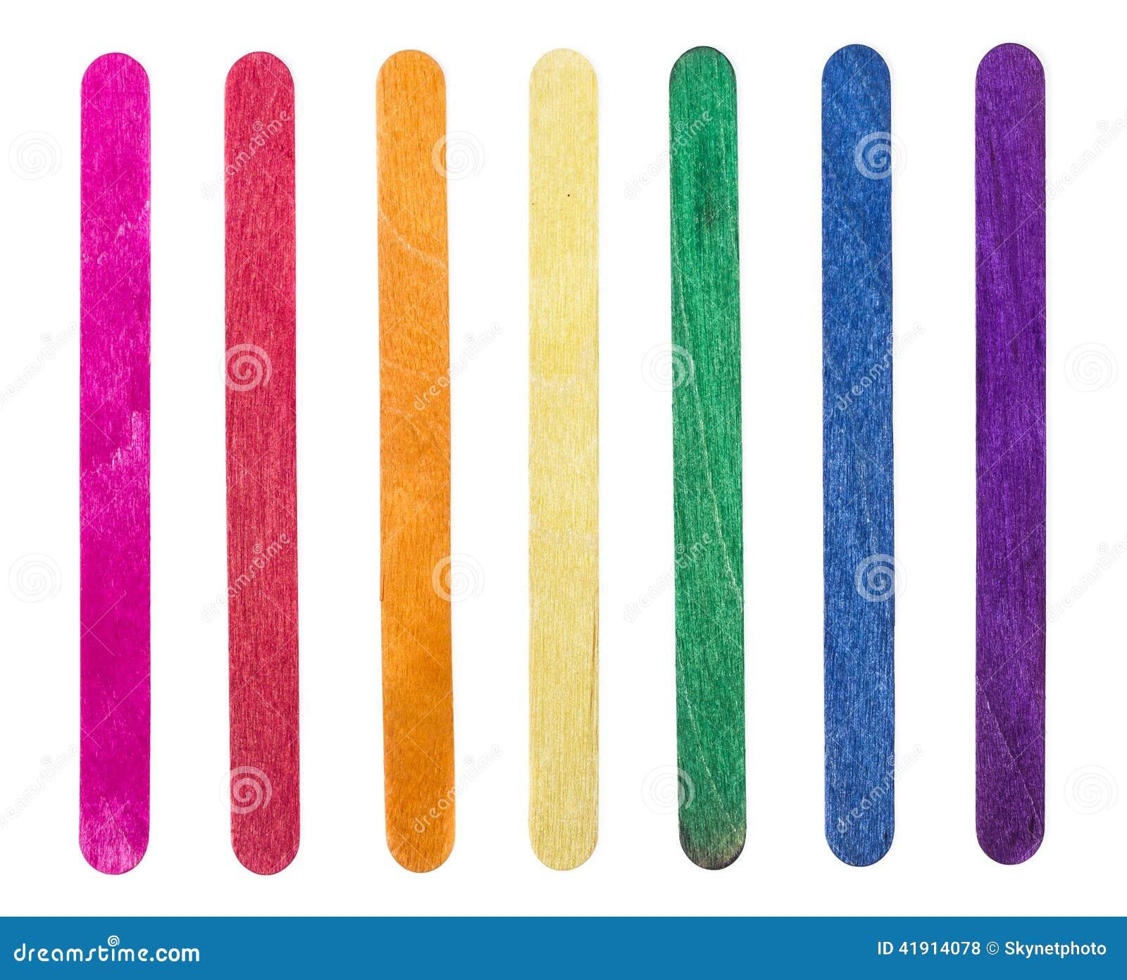 Palillo de madera colorido del helado