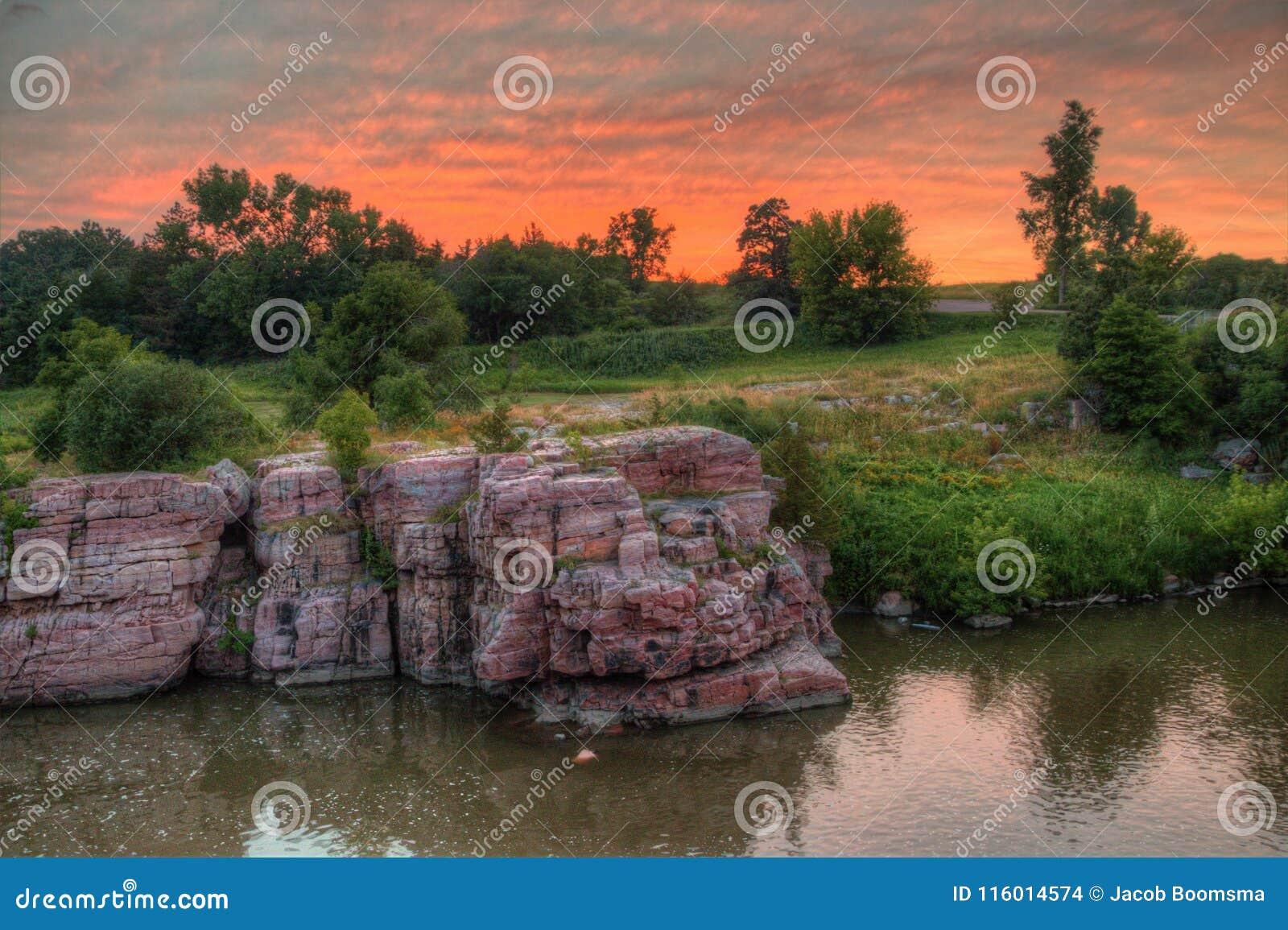 Palissaddelstatsparken är i South Dakota vid Garretson