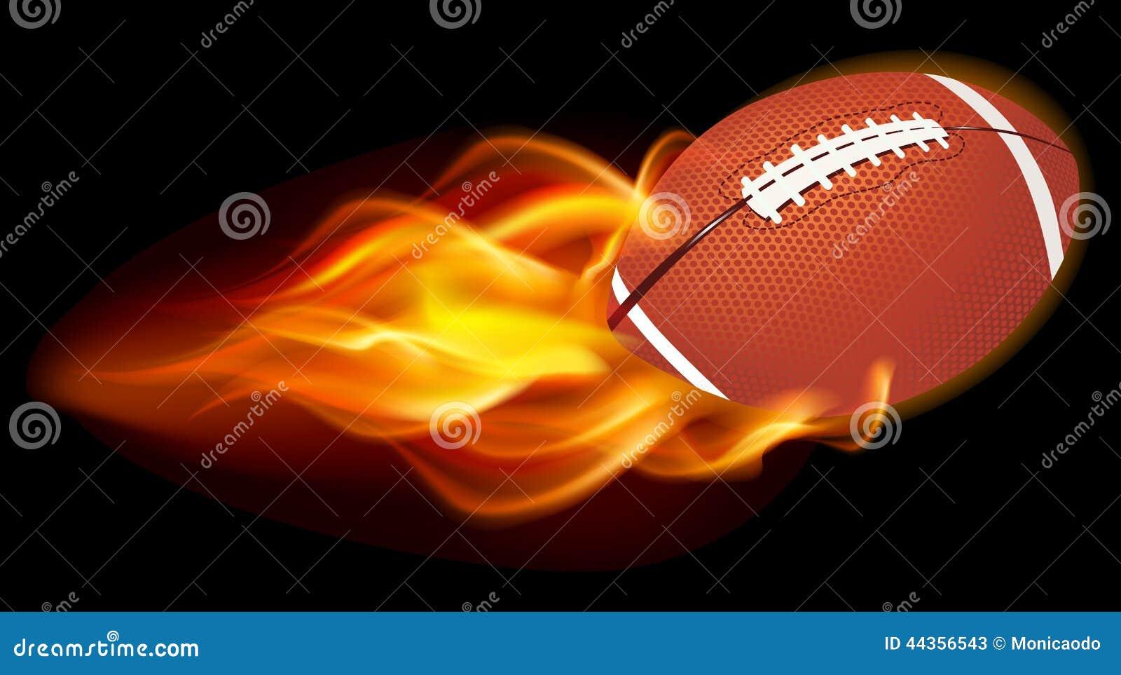 Palla ardente di calcio