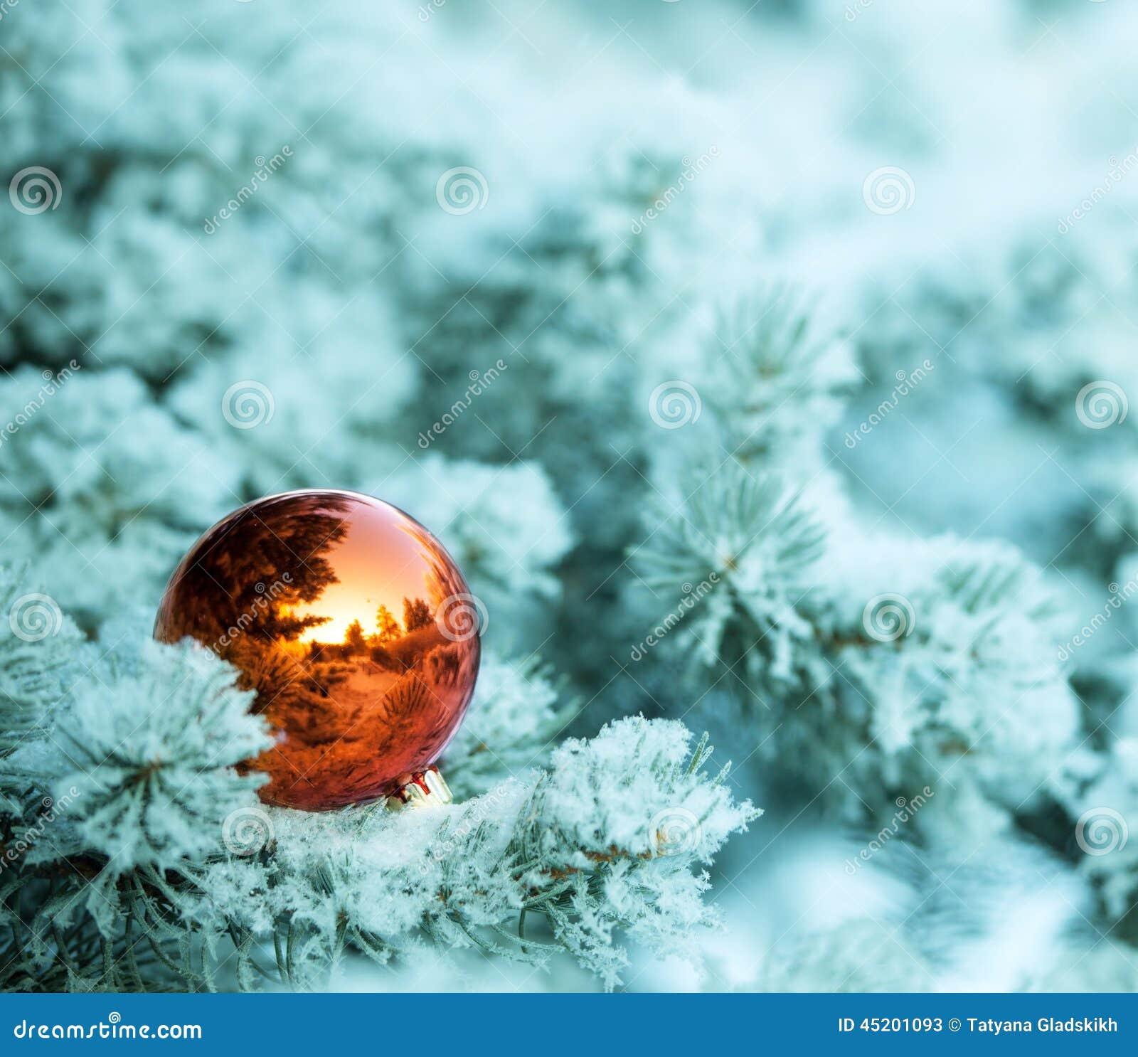 Palla degli ornamenti di Natale