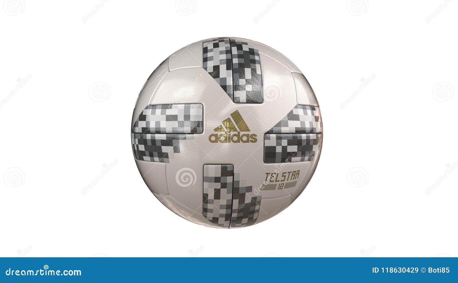 Palla 2018 della coppa del Mondo di Fifa con adidas ed il nome