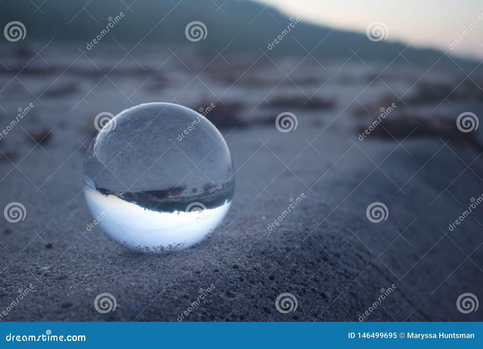 Palla di vetro del lense