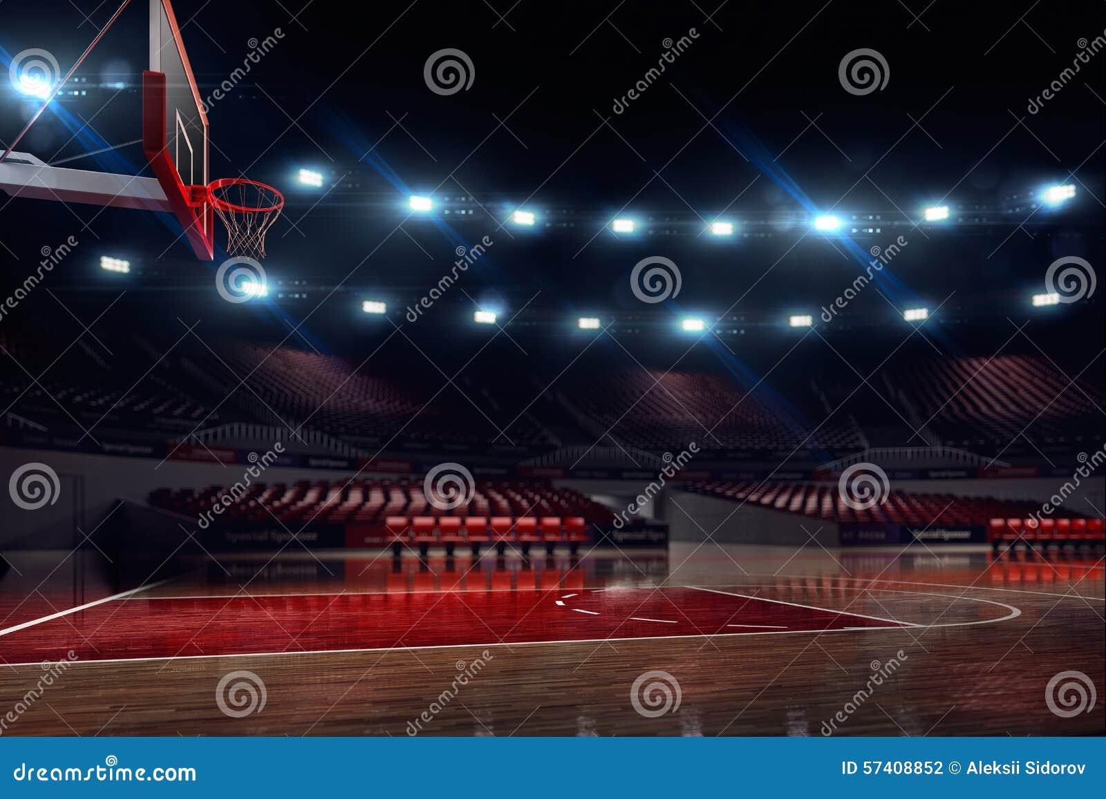 Pallacanestro court Pioggia sullo stadio