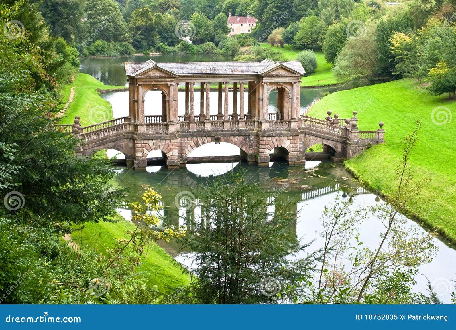 Landscape Garden Four Marks : Palladian bridge in prior park landscape garden royalty