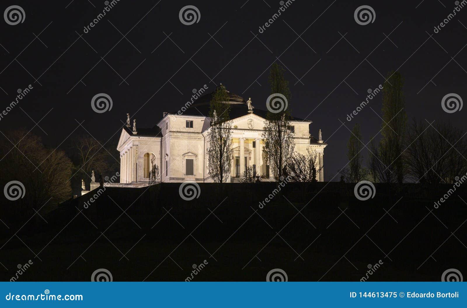 Palladian villa called `la Rotonda`