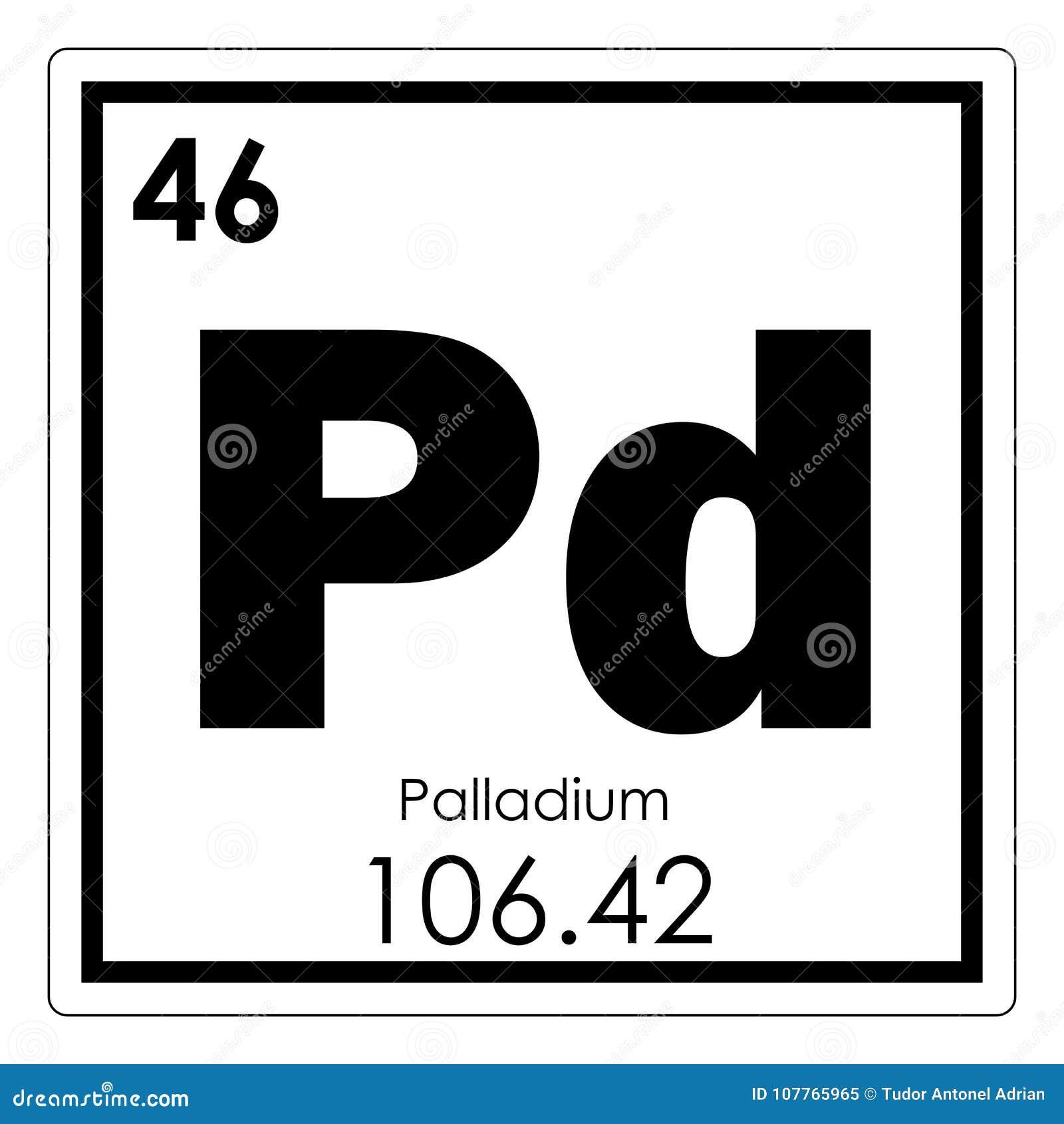 Palladium Chemical Element Stock Illustration Illustration Of