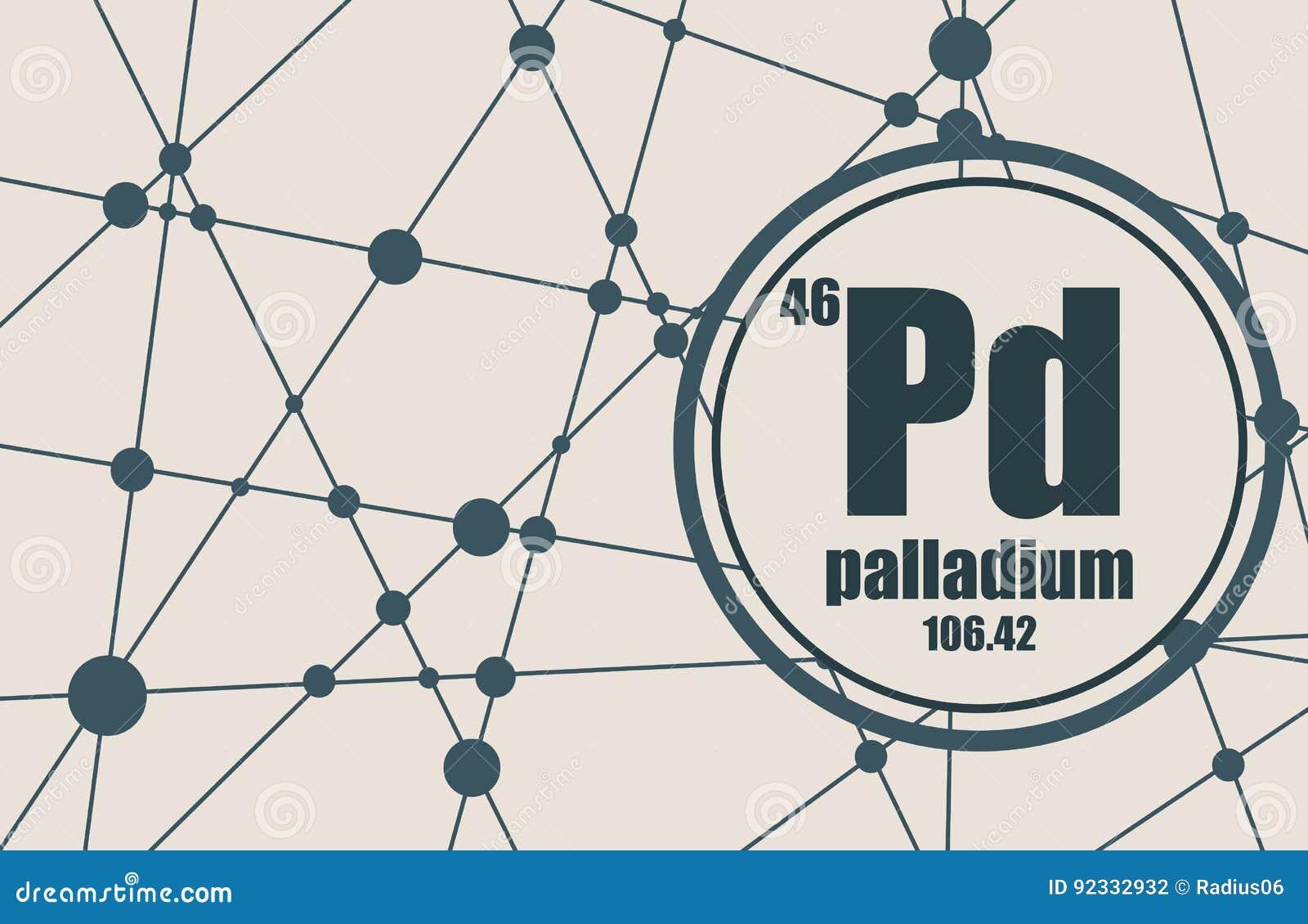 Palladium Chemical Element Stock Vector Illustration Of