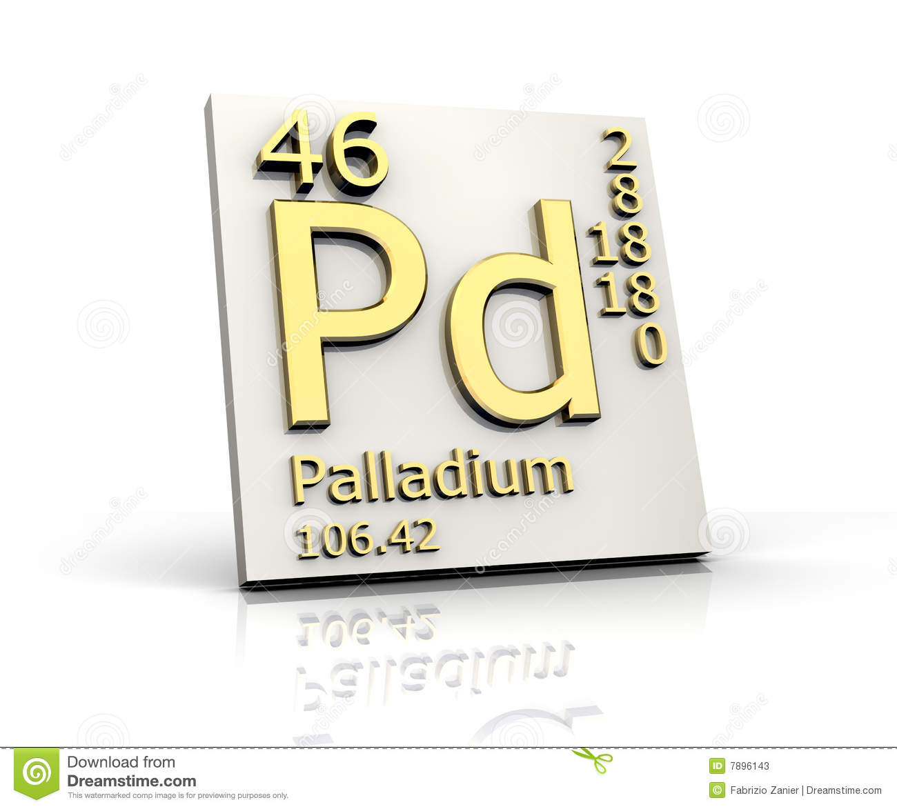 Silver form periodic table of elements stock illustration palladium form periodic table of elements stock photos urtaz Gallery