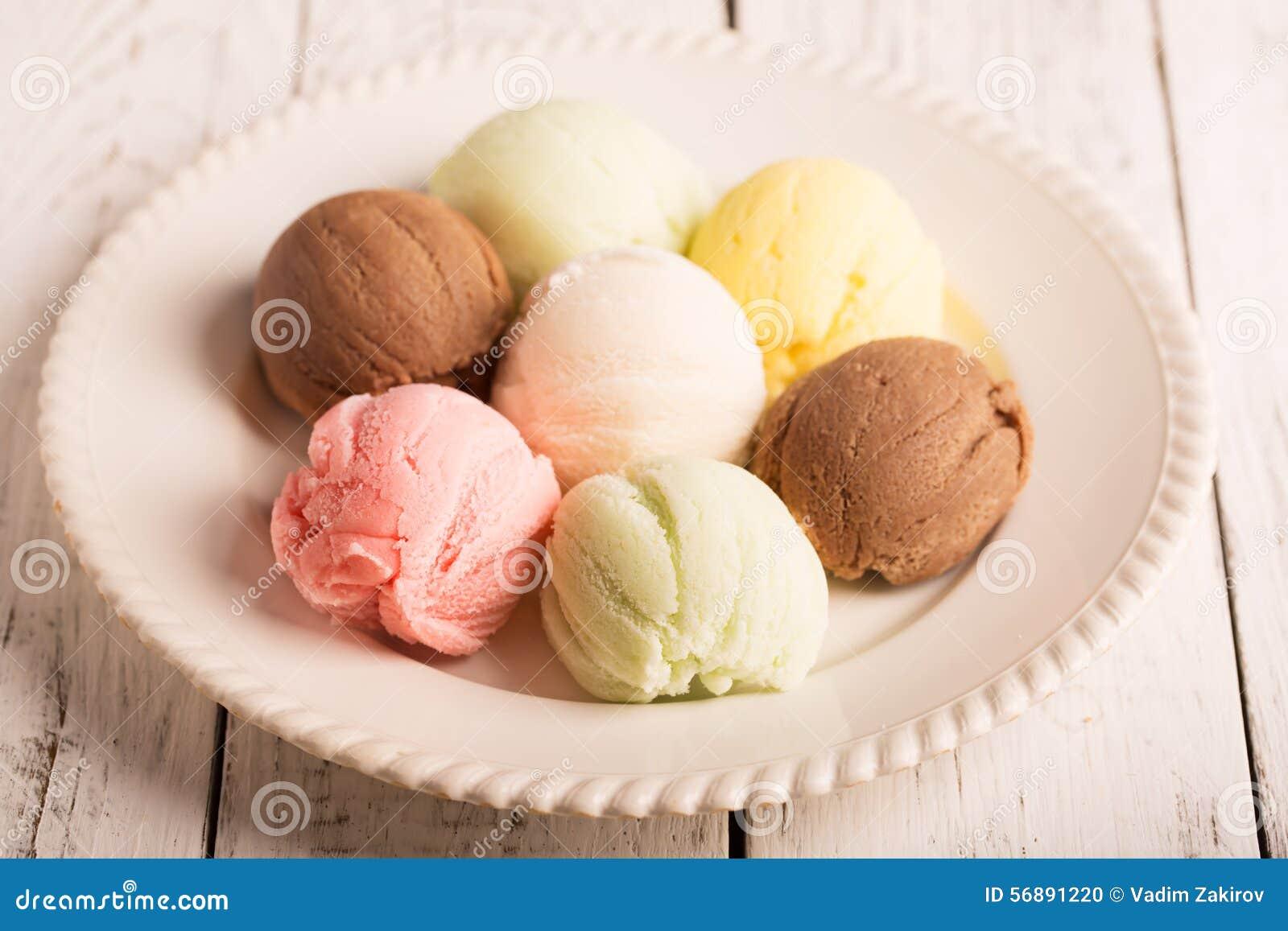 Palle multicolori del gelato