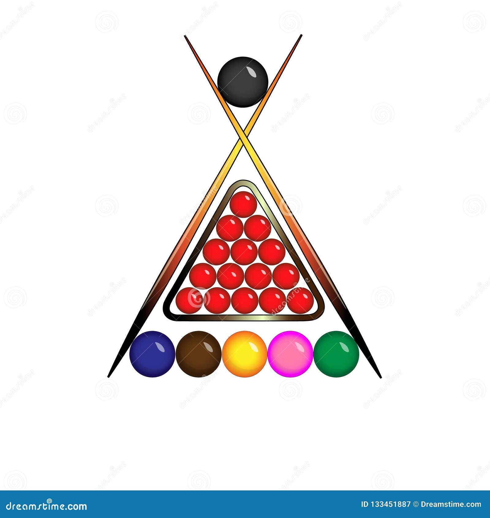 Palle per il logo dello snooker