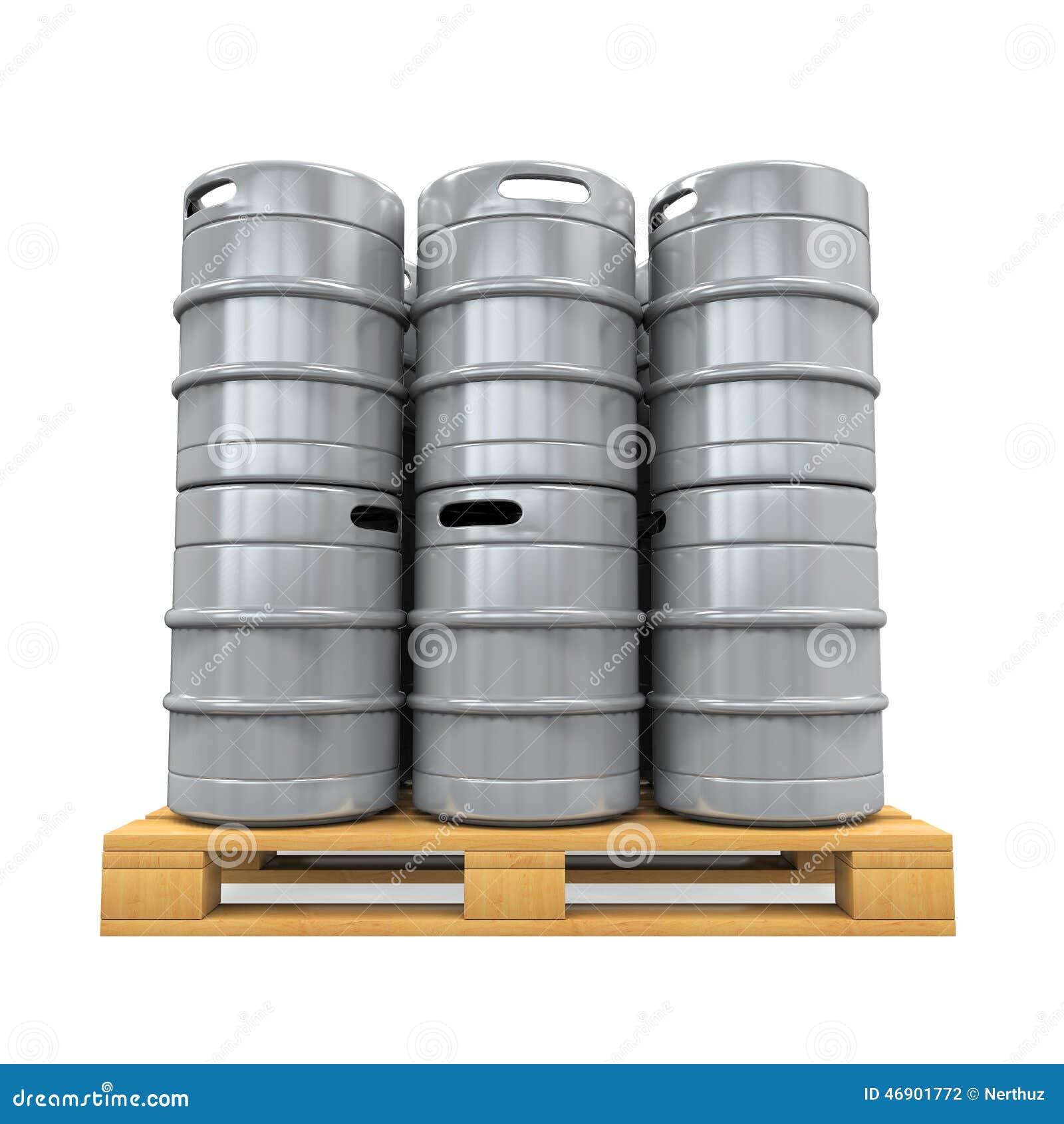 Pallet of Beer Kegs stock illustration. Illustration of draught ...