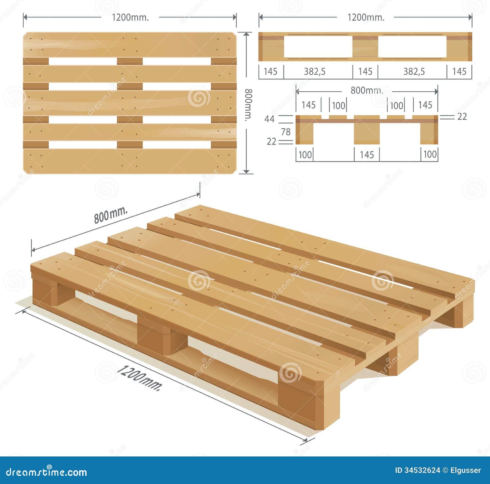 Pallet di legno illustrazione vettoriale illustrazione di for Pallet immagini