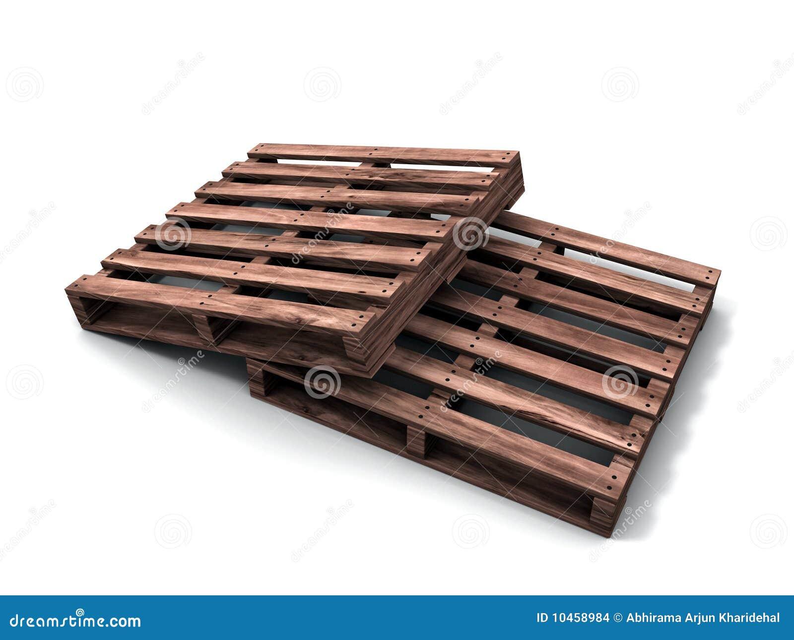 Pallet di legno 3d immagini stock immagine 10458984 for Pallet immagini