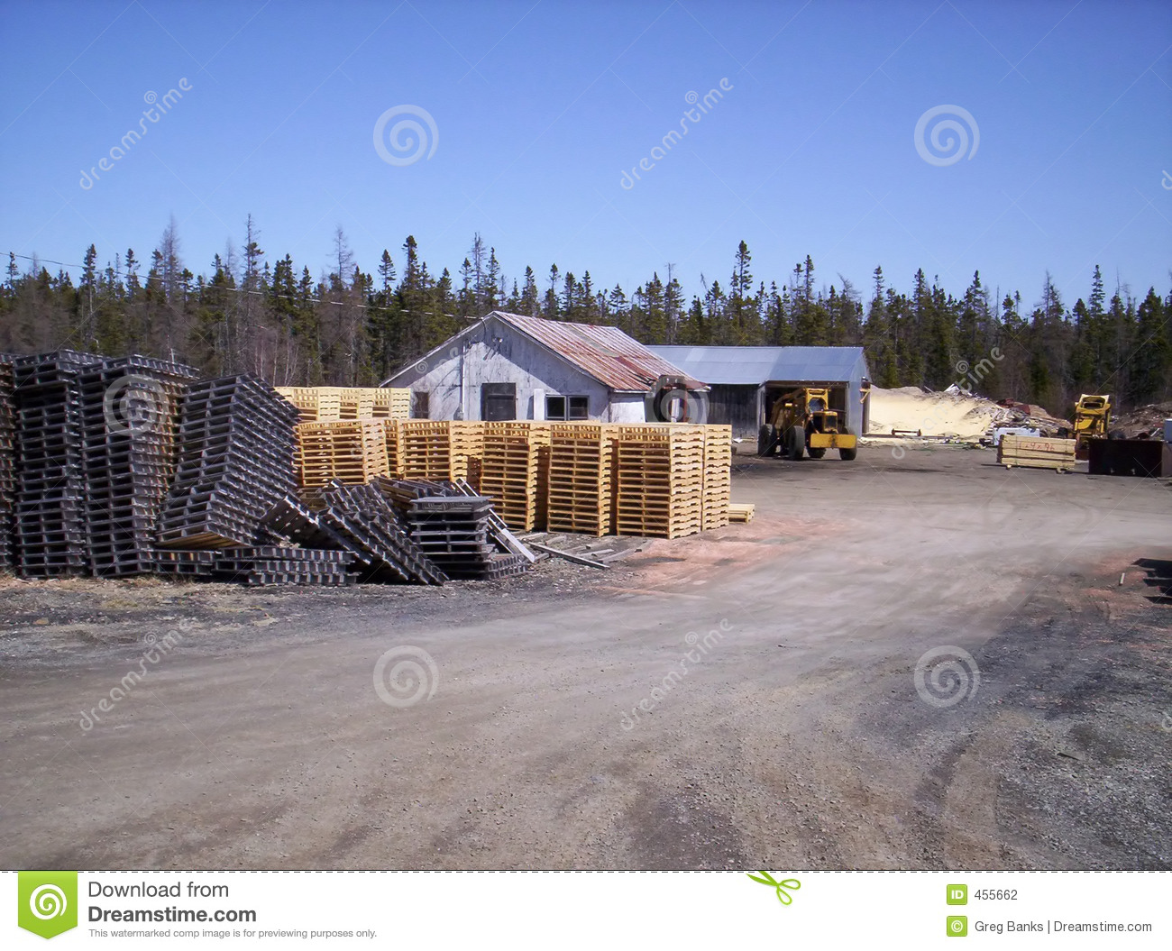 Download Pallet mill stock photo. Image of storage, building, pile - 455662