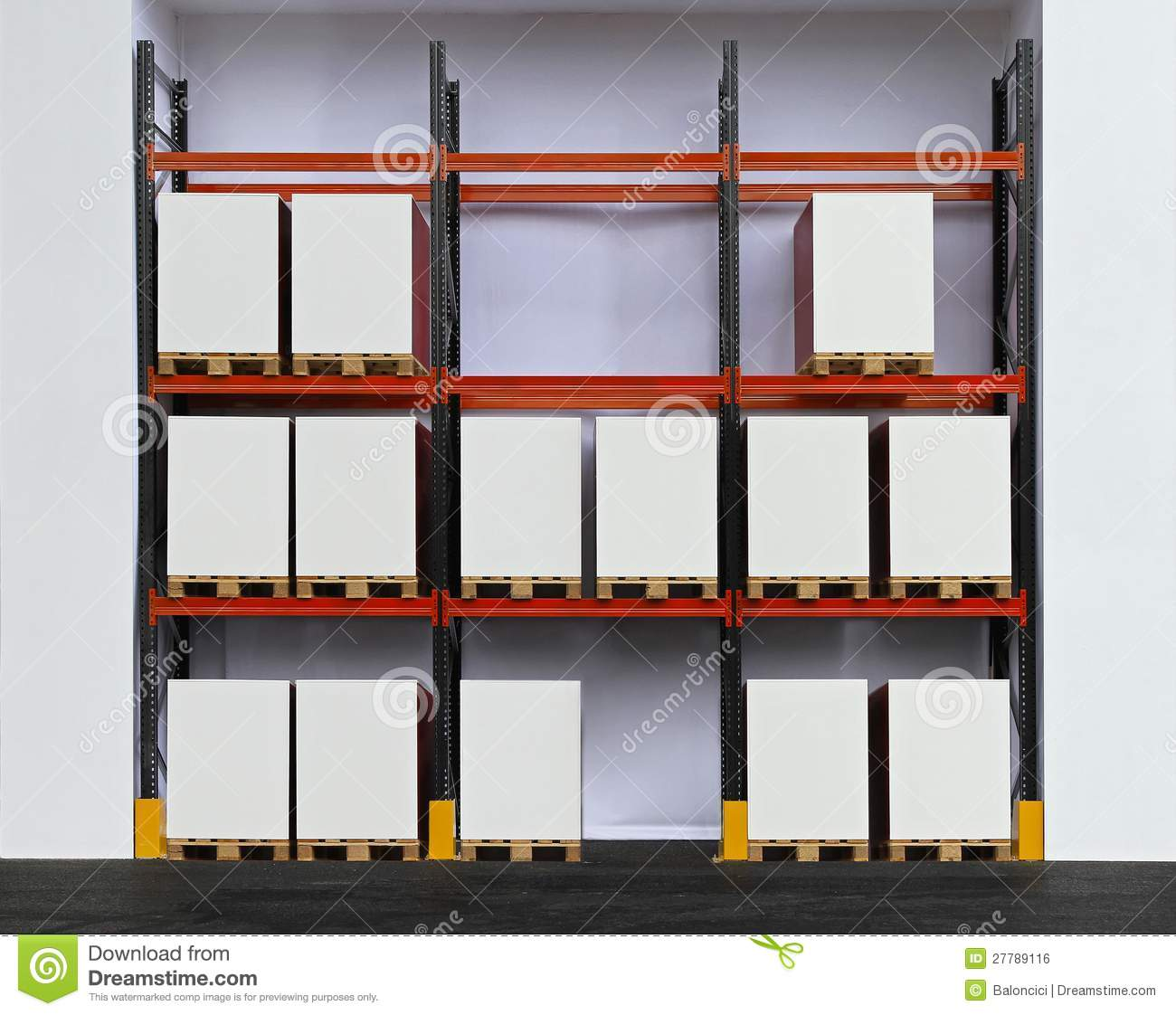 Pallet Rack Royalty Free Stock Image Image 27789116