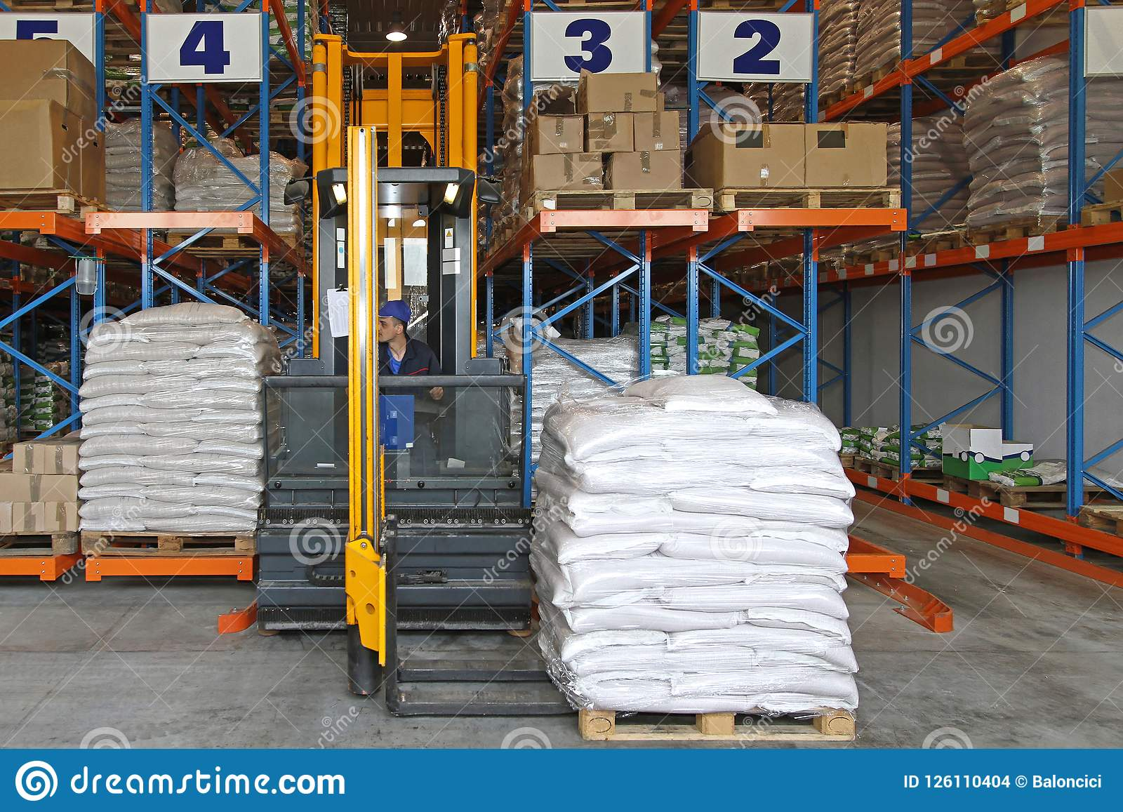 Pallet Stacker stock photo  Image of loading, cargo - 126110404