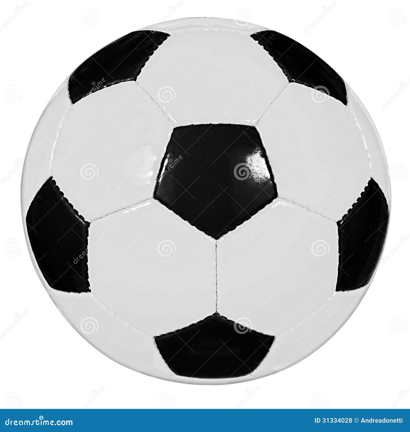Pallone da calcio in bianco e nero fotografia stock - Pagina da colorare di un pallone da calcio ...