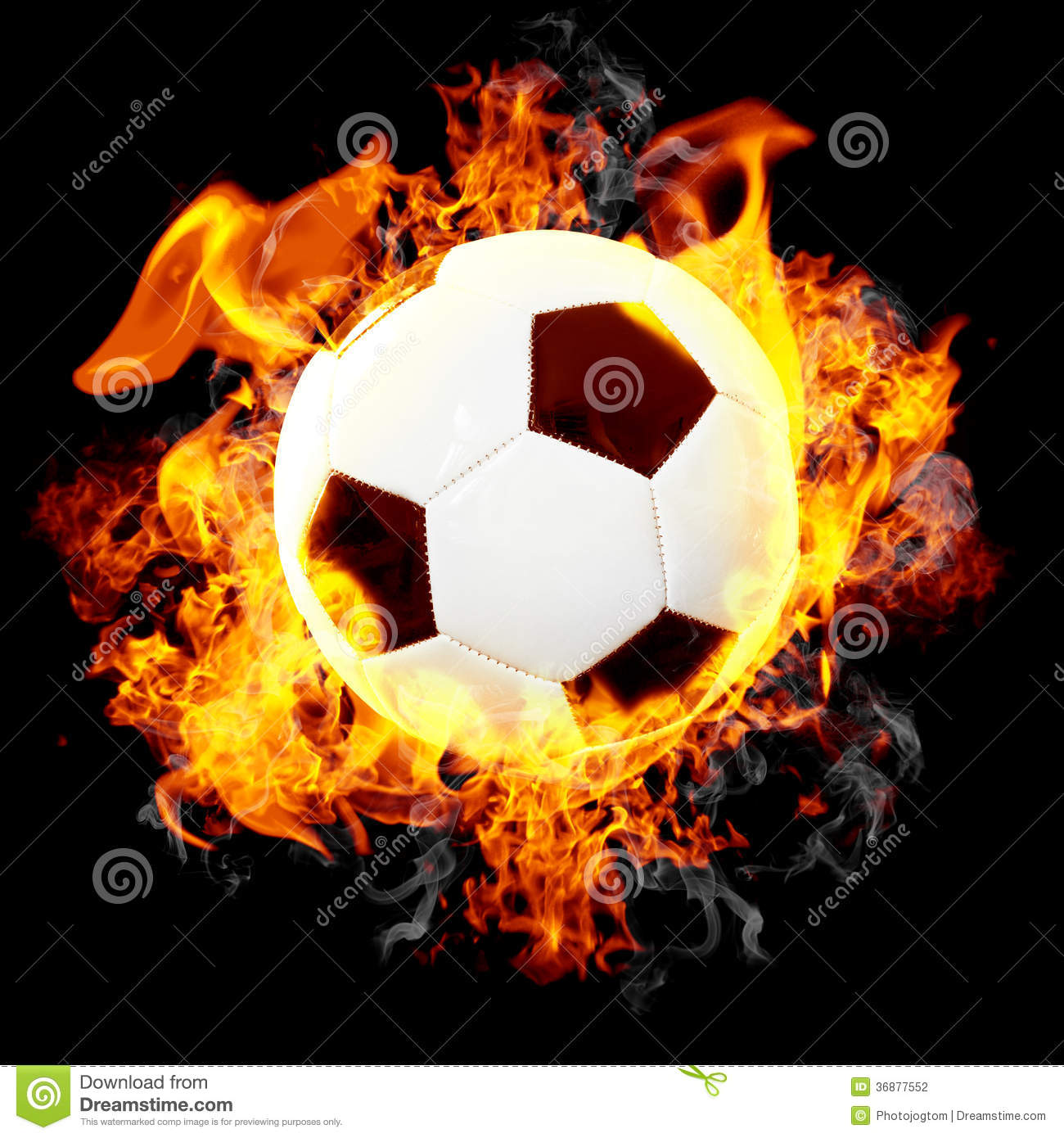 Download Pallone Da Calcio Bruciante Illustrazione di Stock - Illustrazione di arte, illustrazione: 36877552