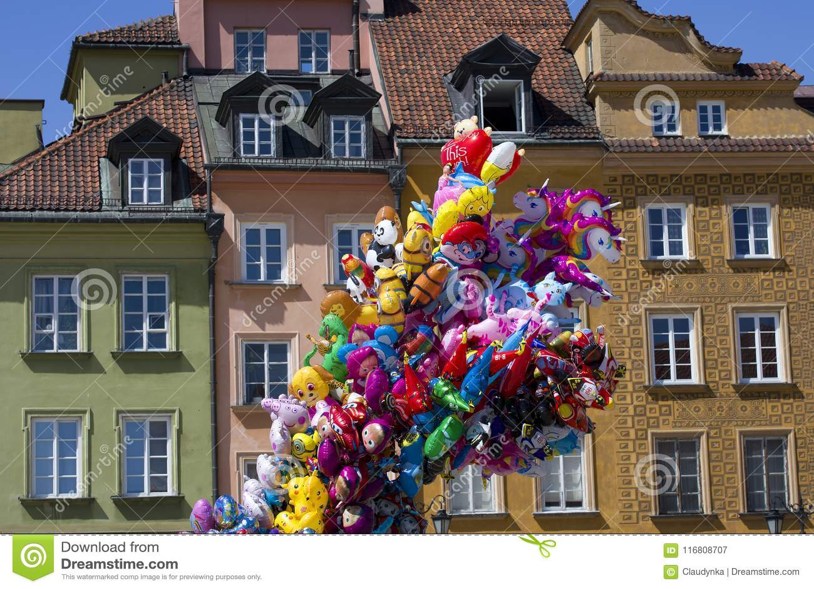 Palloni in Città Vecchia a Varsavia