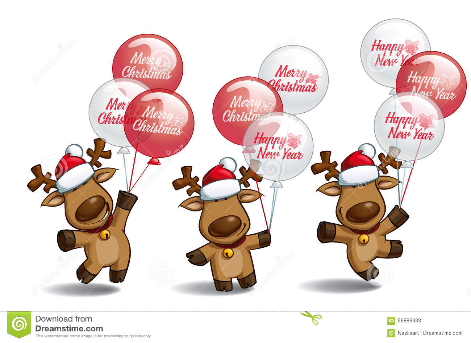 Palloni degli alci di Natale