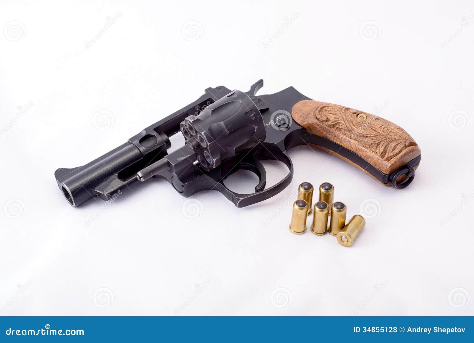 Pallottole Di Gomma Di Infornamento Della Pistola