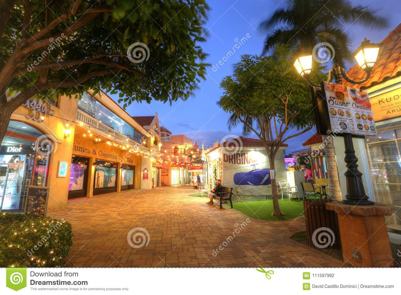 Palm Beach Containing Hotels And Restaurants In Aruba