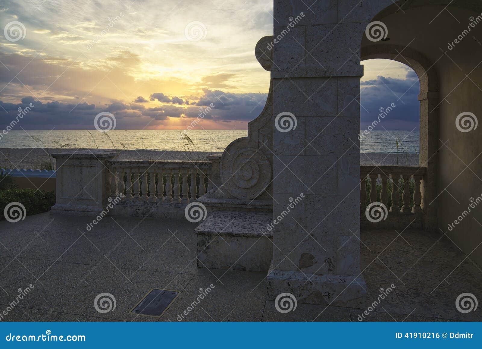 Palm- Beachsonnenaufgang