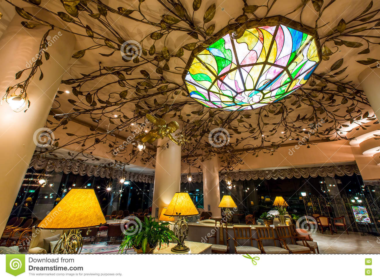 Palm De Yume Garden Hotel Japan Editorial Stock Photo - Image of ...
