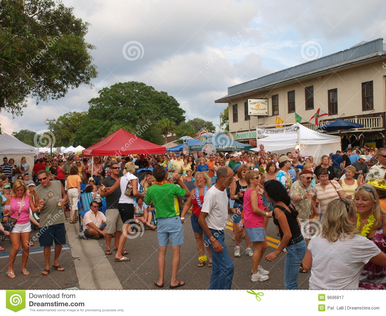 Palm Harbor Florida Parrot Head Block Party 8 Editorial Photography Image 9696817