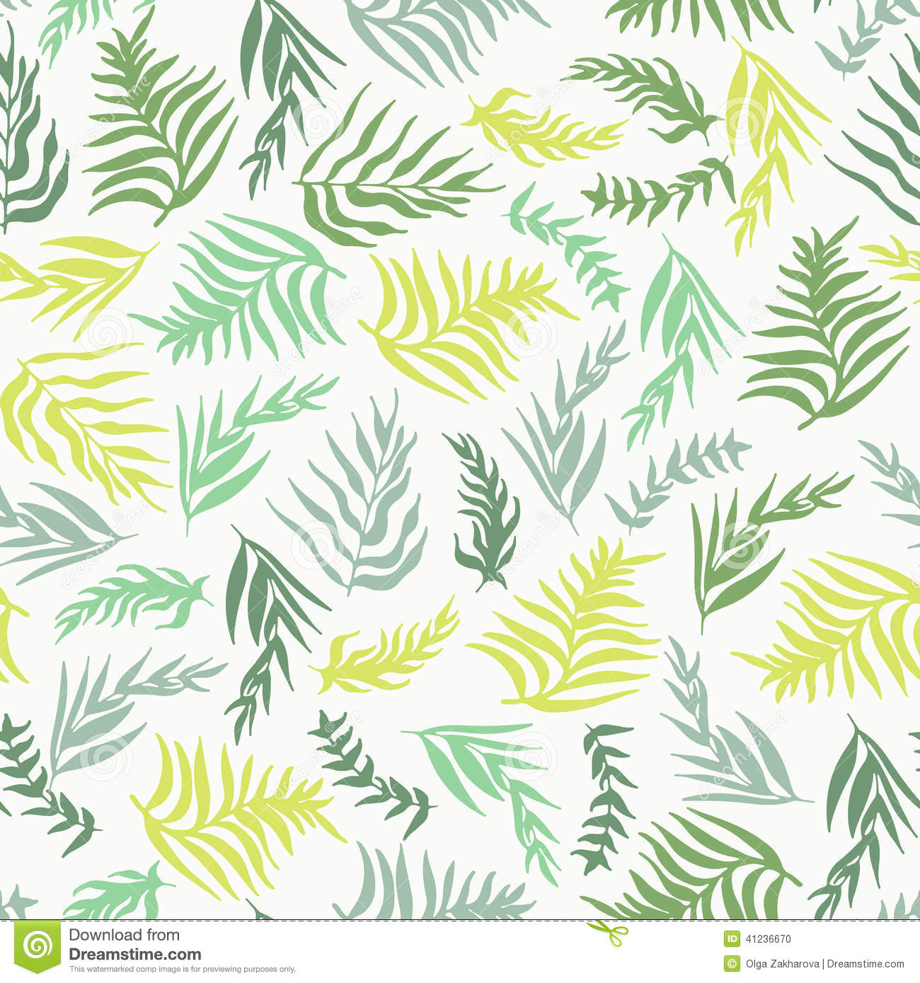 palm leaves pattern stock vector illustration of exotic 41236670