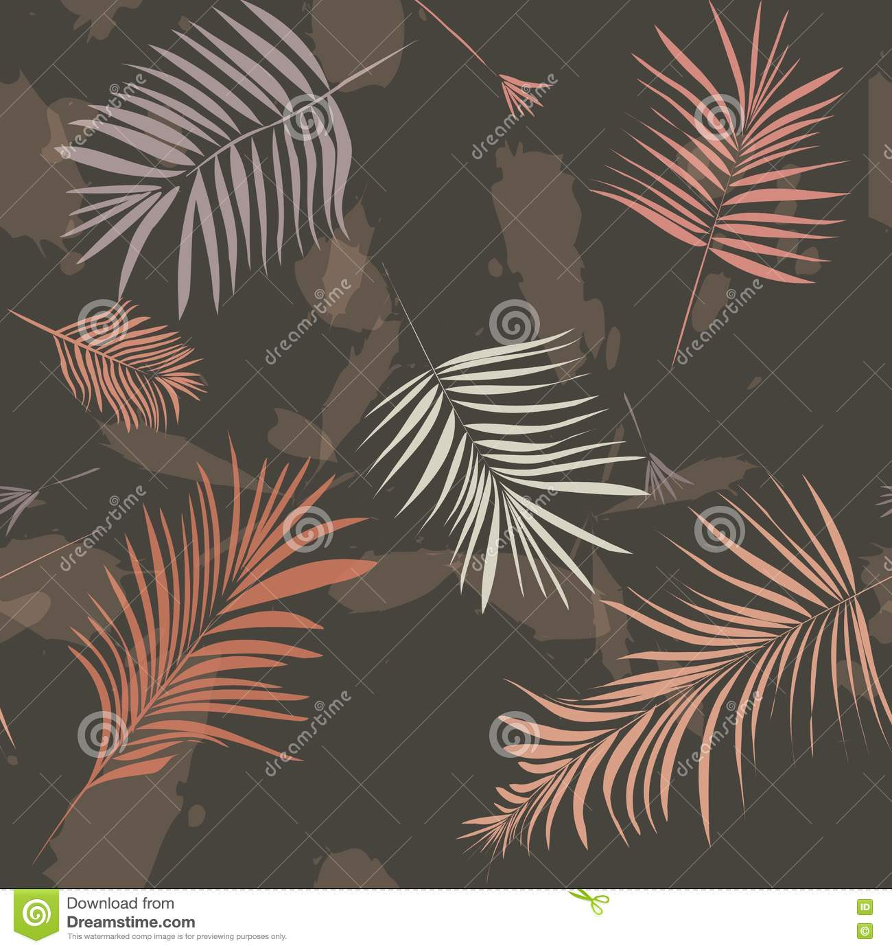 Palm pattern brown