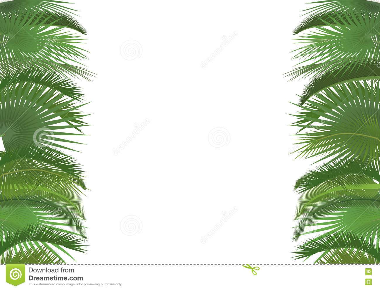 palm card template word - palm plant tree leaves background template exotic