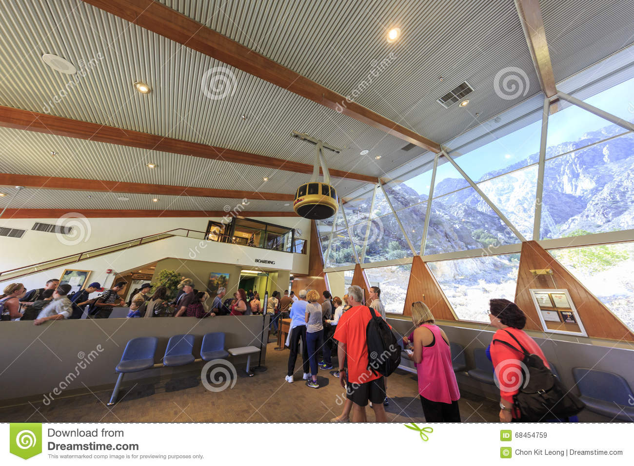 Palm Springs Aerial Tramway Cabin. At Valley Station. Landscape, Tourism.