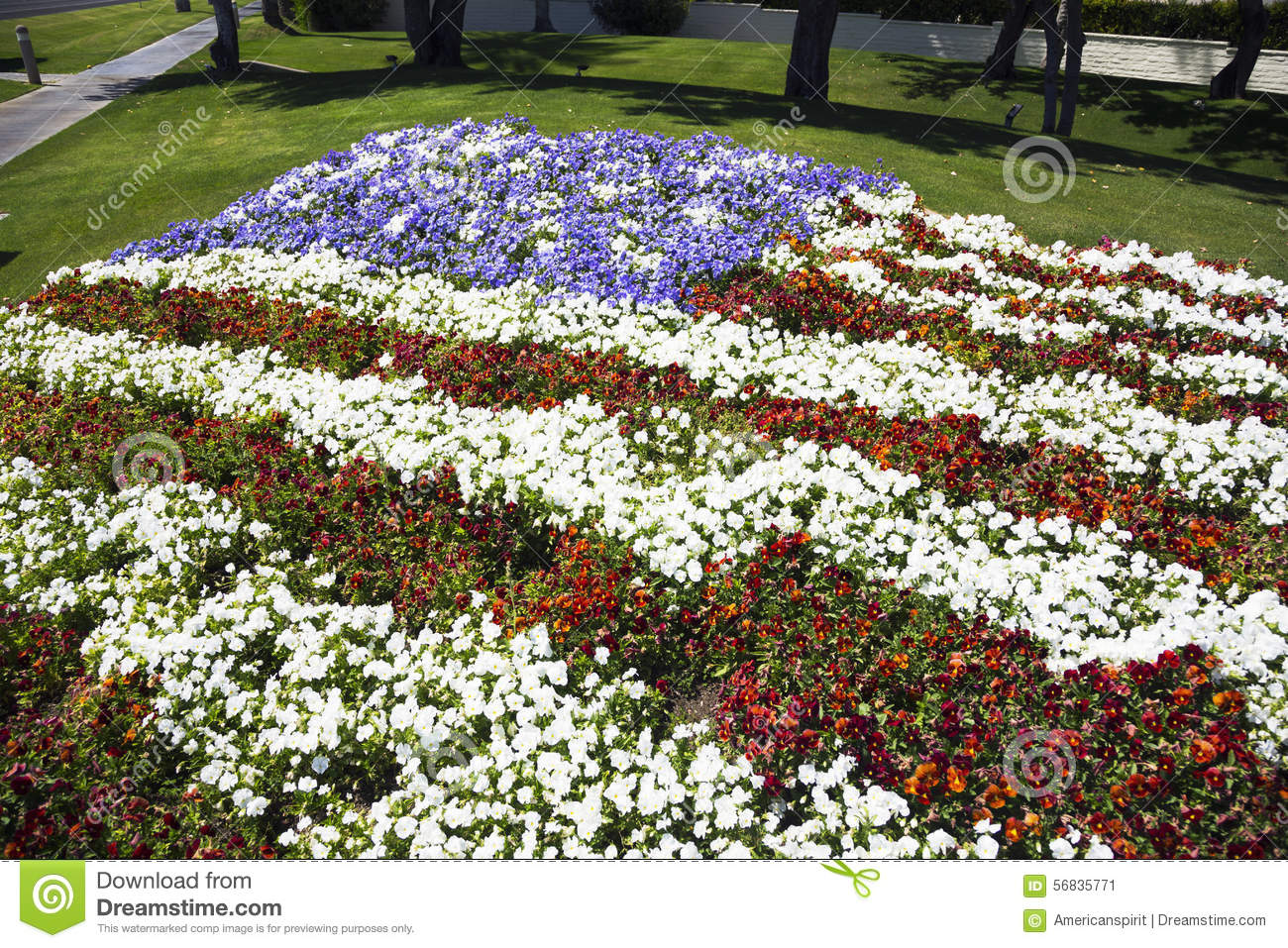Palm springs california usa april 12 2015 us flag in flowers download palm springs california usa april 12 2015 us flag in mightylinksfo