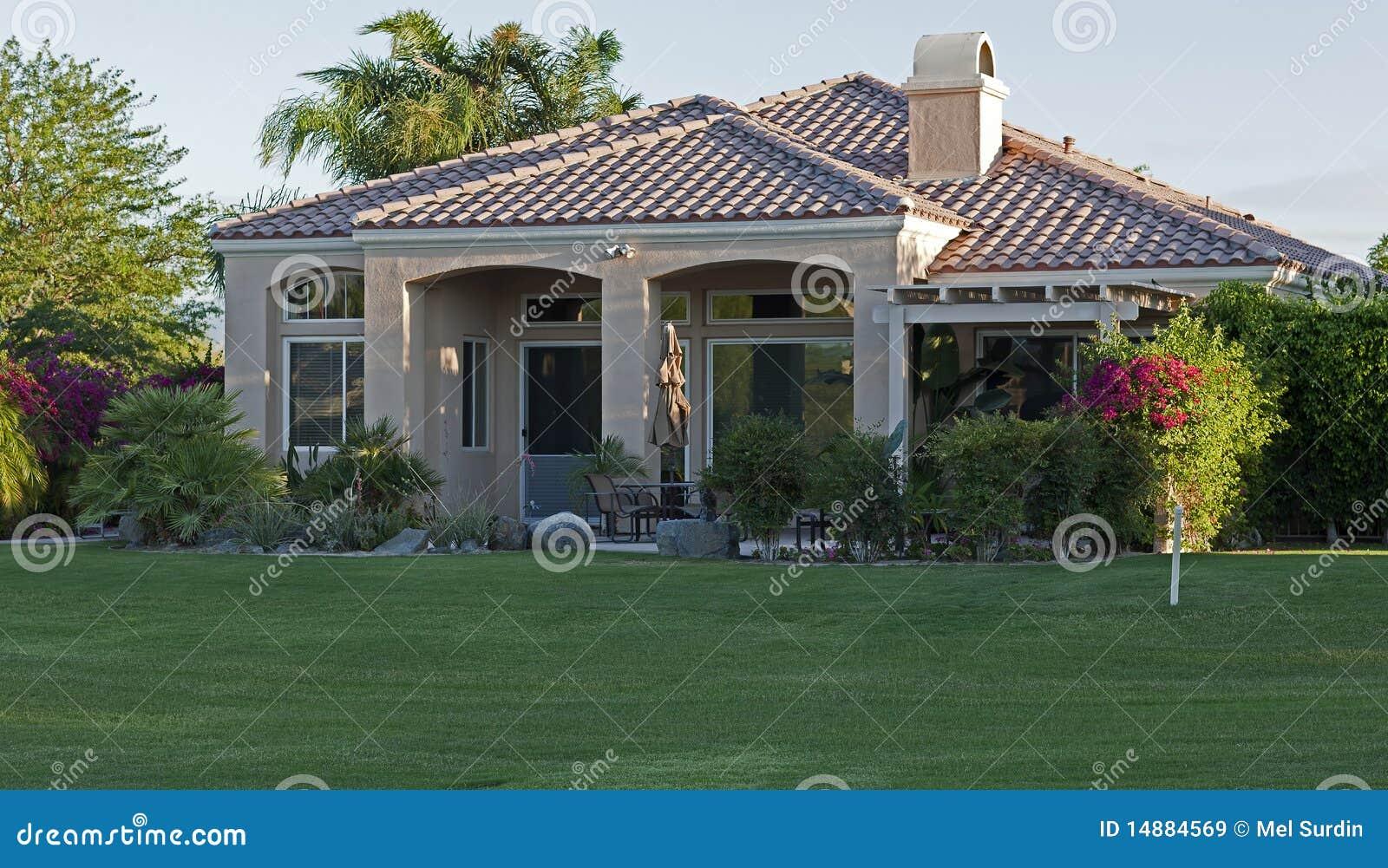 Palm Springs Golf Course Homes Stock Photo Cartoondealer