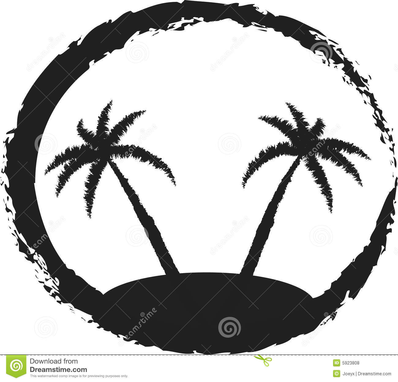 Black Palm Tree Clip Art