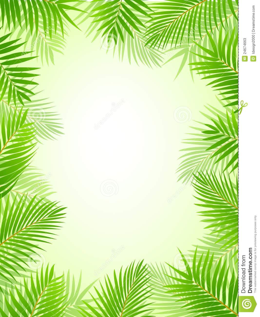 Stock Photos: Palm tree frame background. Image: 24674663