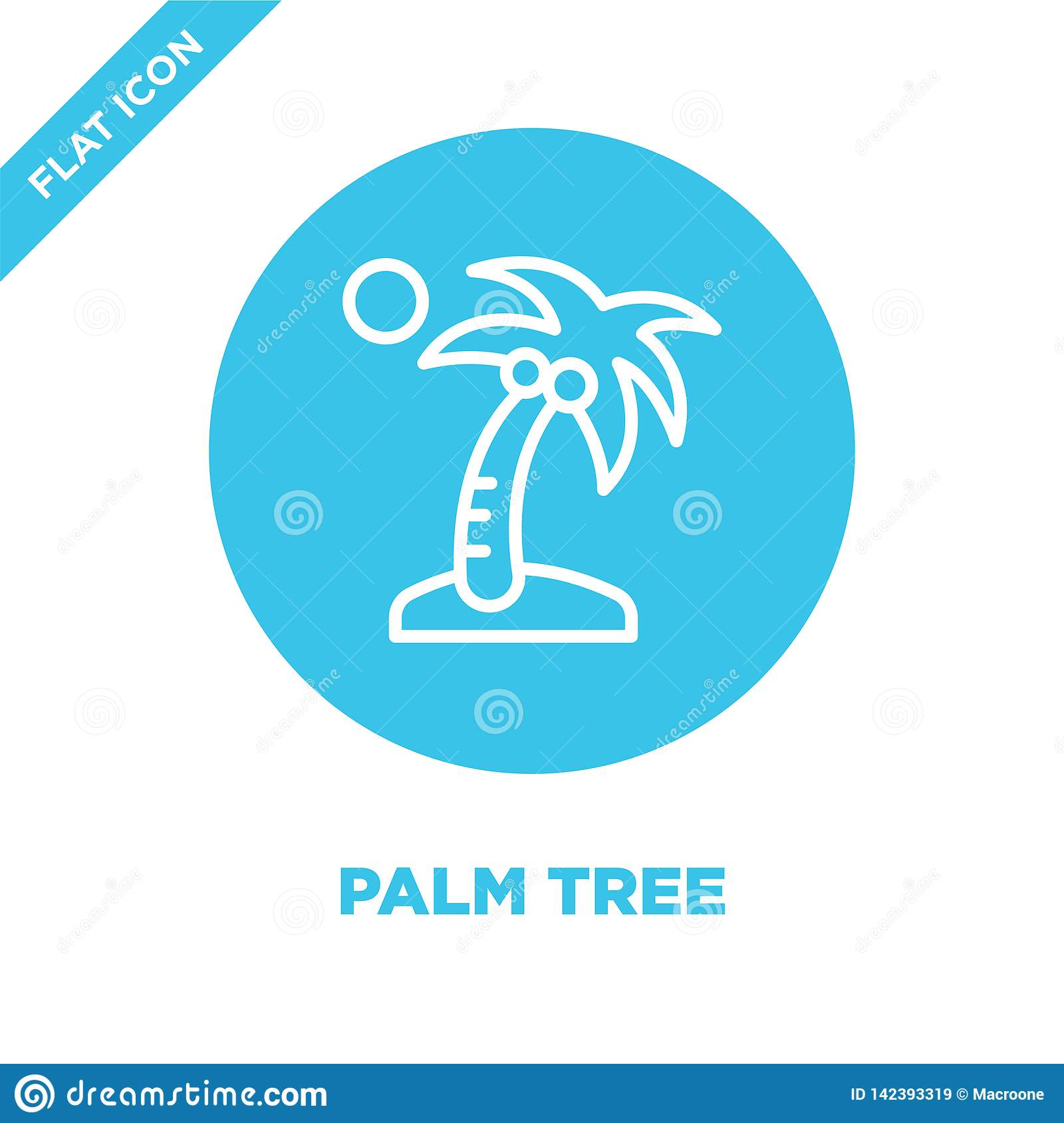 palm tree icon vector from seasons collection. Thin line palm tree outline icon vector  illustration. Linear symbol for use on web