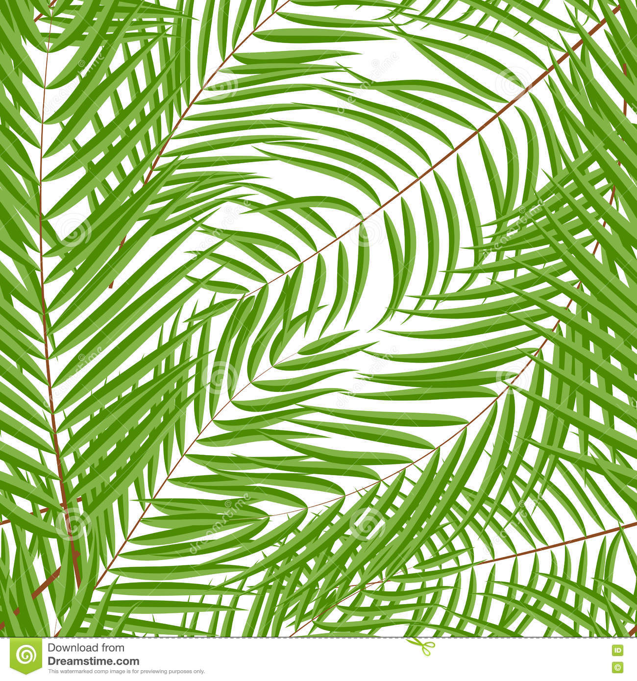 Palm Tree Leaf Silhouette Seamless Pattern Background ...