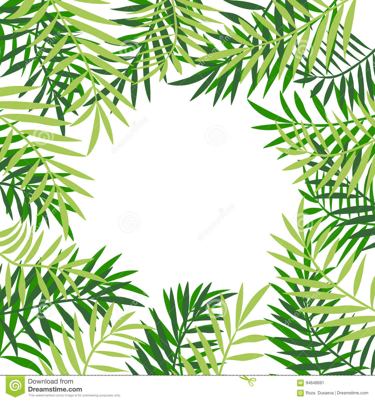 palm card template word - palm tree leaves border 3 stock vector illustration of