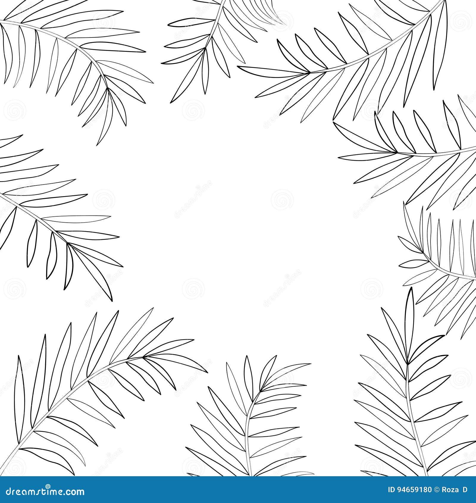 Palm Tree Leaf Template Free