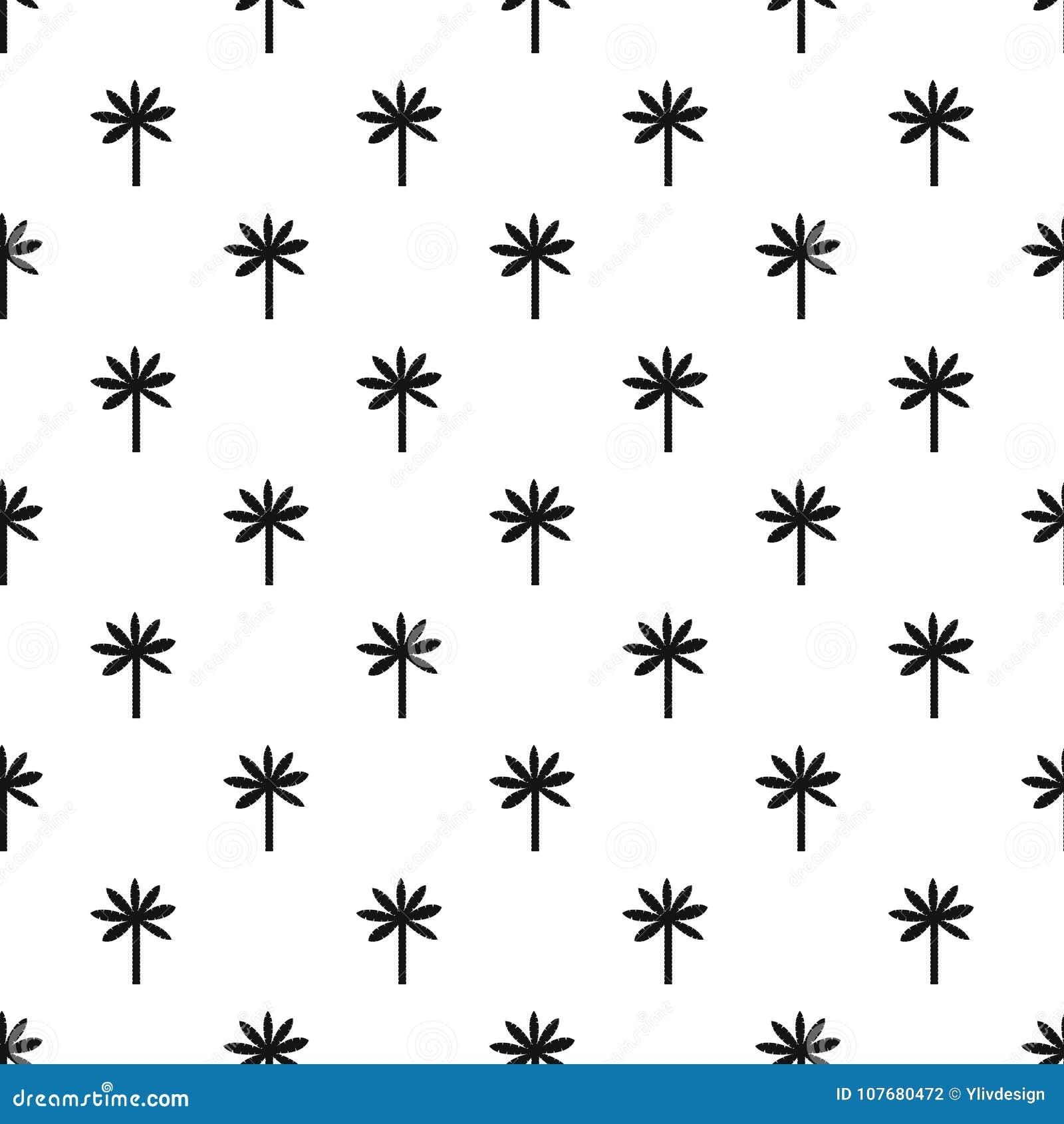 Palm tree pattern vector stock vector  Illustration of
