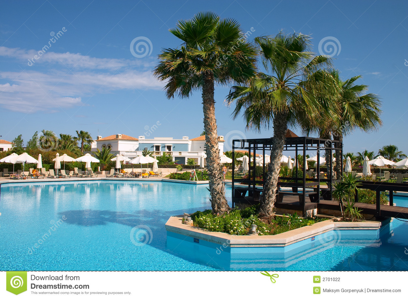 Palm Tree In Pool Stock Photography Image 2701022