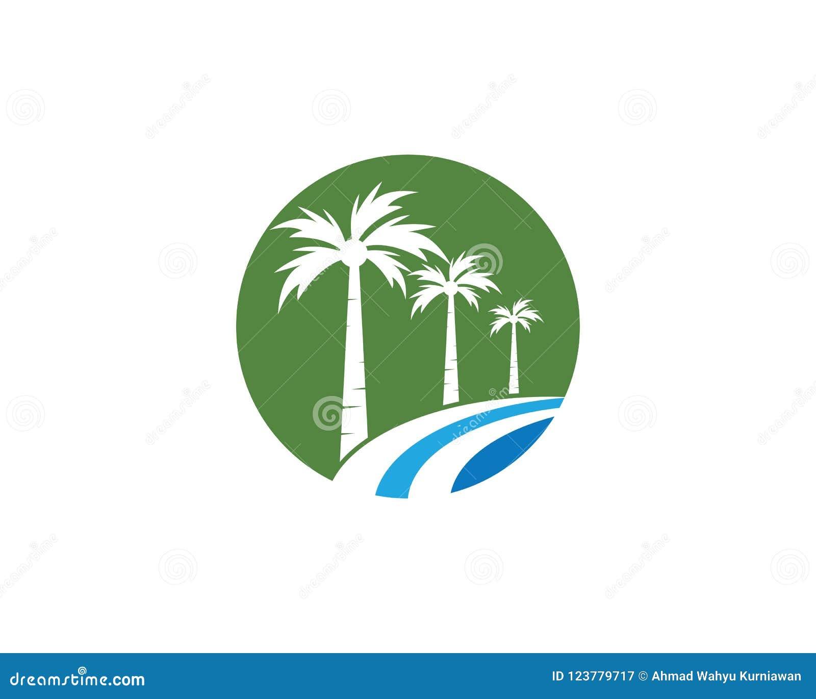 Palm Tree Summer Logo Template Stock Vector Illustration Of Symbol